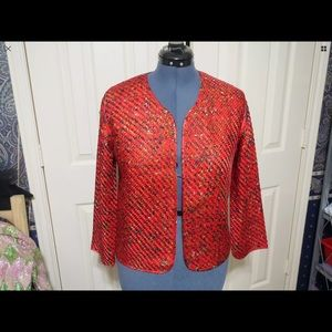 Mint Chico's woven silk jacket size 4